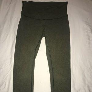 Green Lululemon Crop Leggings